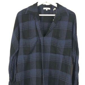 Vince Heathered Plaid blouse